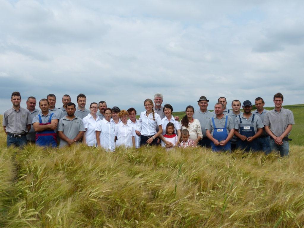 Familia de elvețieni care cultivă la Arad grâu ecologic