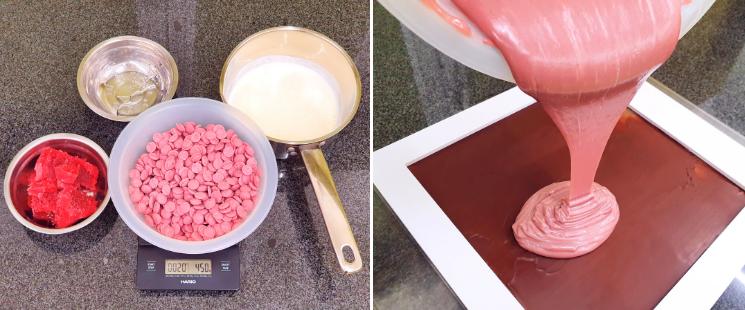 reteta praline ciocolata roz